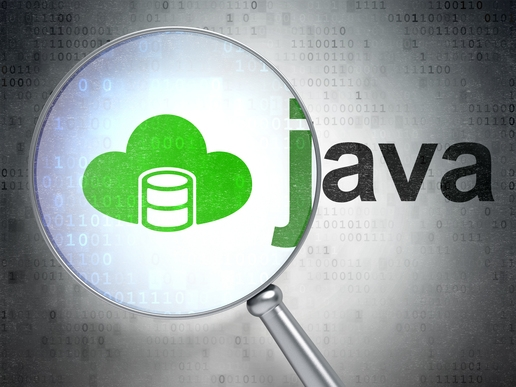 high load java app server with magnifying glass on cloud server
